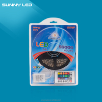 12V 5050 RBG Suit SMD waterproof 150&300leds/5 meters with led control&remote flexible led strip