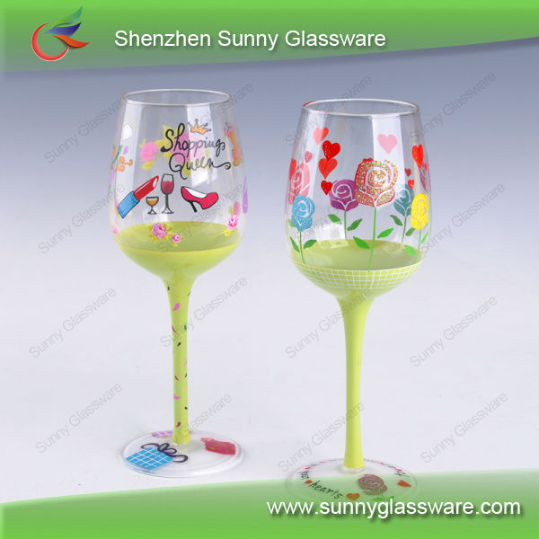 Hot Sale Hand Painted Wine Glasses,wine glass