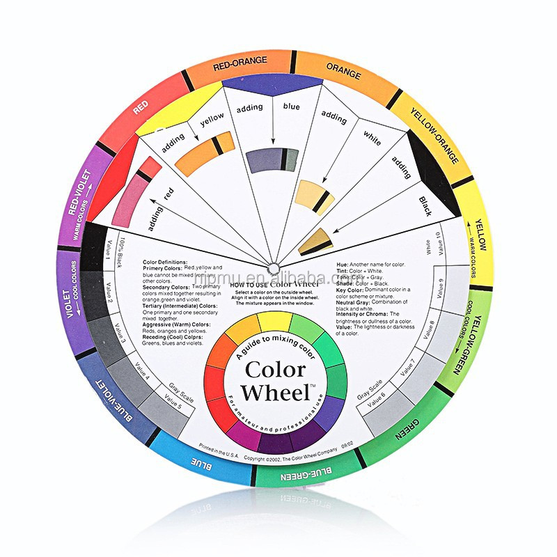 Tattoo Pigment Color Wheel For Eyebrow Lip Permanent Makeup Tattoo Beauty Makeup Accessory