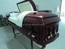 EMPEROR models of coffin pillow and wood funeral casket cart