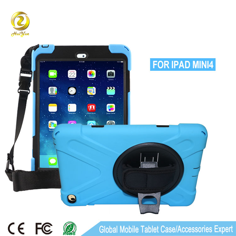 2016 Popular design wholesale light blue silicone 9.6 inch tablet case for ipad mini 4