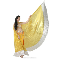 BestDance belly dance costumes isis wings indian dance nice performance isis wings sale gold with silver OEM