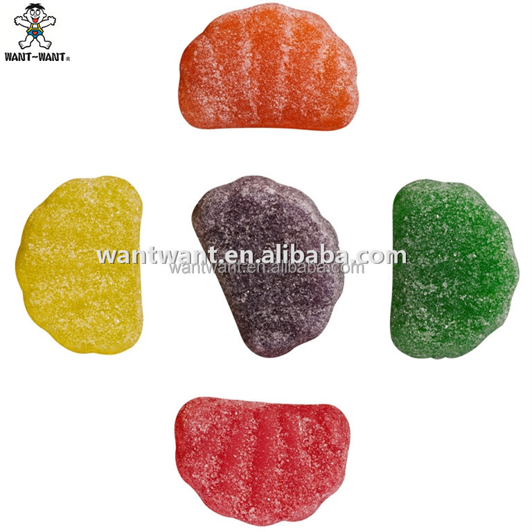 High Quality Starch Gummy Bulk Fruit Slice Gummy Fruit Candy Mixed Fruit Gummy