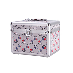 Factory supply hard shell diamond pattern multilayer for women custom cosmetic case