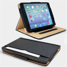 High quality leather flip machine frame stand smart cover case for ipad air ipad 5