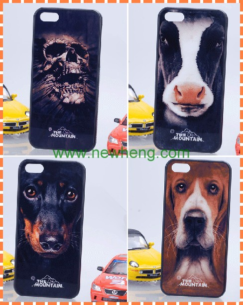 Fashion realistic 3D sublimation plastic hard case for iphone 5s
