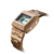 Customize Logo Square Digital Wood Watches Men Smart Wooden Watch