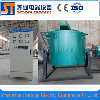 200kg 1200C metal resistance crucible melting furnace for sale