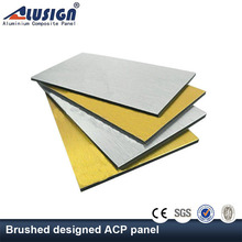 Alusign insulated FR brushed decorative aluminum composite panel