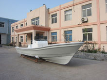 Liya 7.6m commercial fishing boats fiberglass boat construction