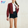 Winter Lates Design Woman Clothing Maroon color Bomber Jacket