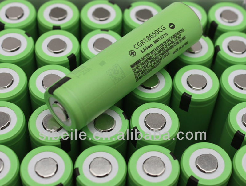 Panasonic battery 14.4v li-ion / CGR18650CG 3.6v 2250mAh battery cell