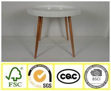 New design coffee table side table wooden round table