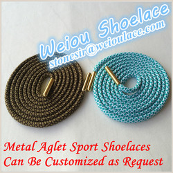 Weiou novety polyester cord custom round shoelaces for asics shoes