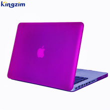 Purple matte laptop gel case for macbook pro 13 15 With Touch Bar