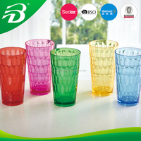 Plastic acrylic drink cup 2016 new design 12oz and 16oz tumbler