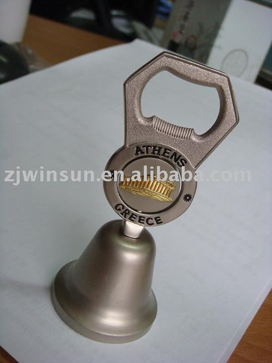zinc bell with spinner and opener