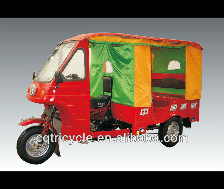 disable motorized 3 wheel tricycle for passenger taxi
