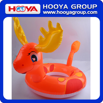 TY94861 Lovely thick popular deer design inflatable baby swimming ring