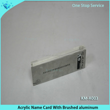 High grade clear solid acrylic name card block