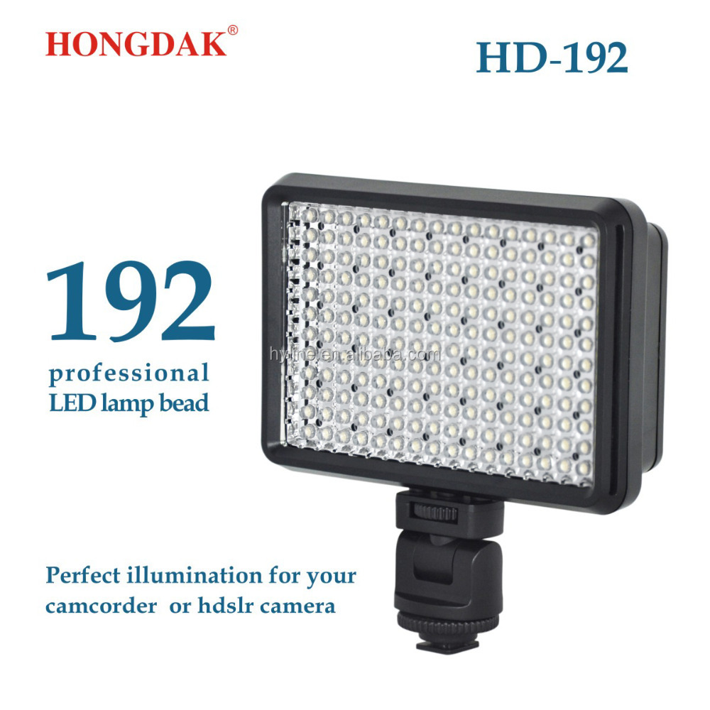 192 LED Video Light 1200LM 11.5W Dimmable Panel DSLR Camera Video Camcorder Photographic Lighting