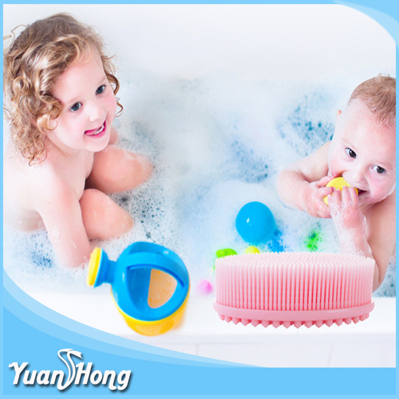 amazon hot softly silicone baby hair soap bath massage brush