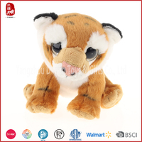 China supply high quality brown stuffed tiger plush animals toy stuff plush toys customize OEM