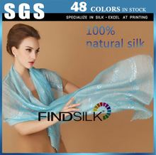 Superior quality double sided 100% silk shawl