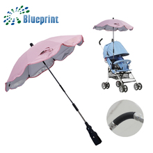 UV Child Parasol Lace Clamp handle For Strollers Baby Umbrellas