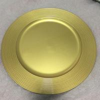 Cheap wholesale gold wedding charger plates