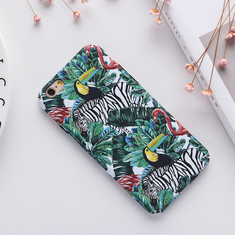 Water Transfer flower and birds Drawing Phone Case for iPhone 7/8