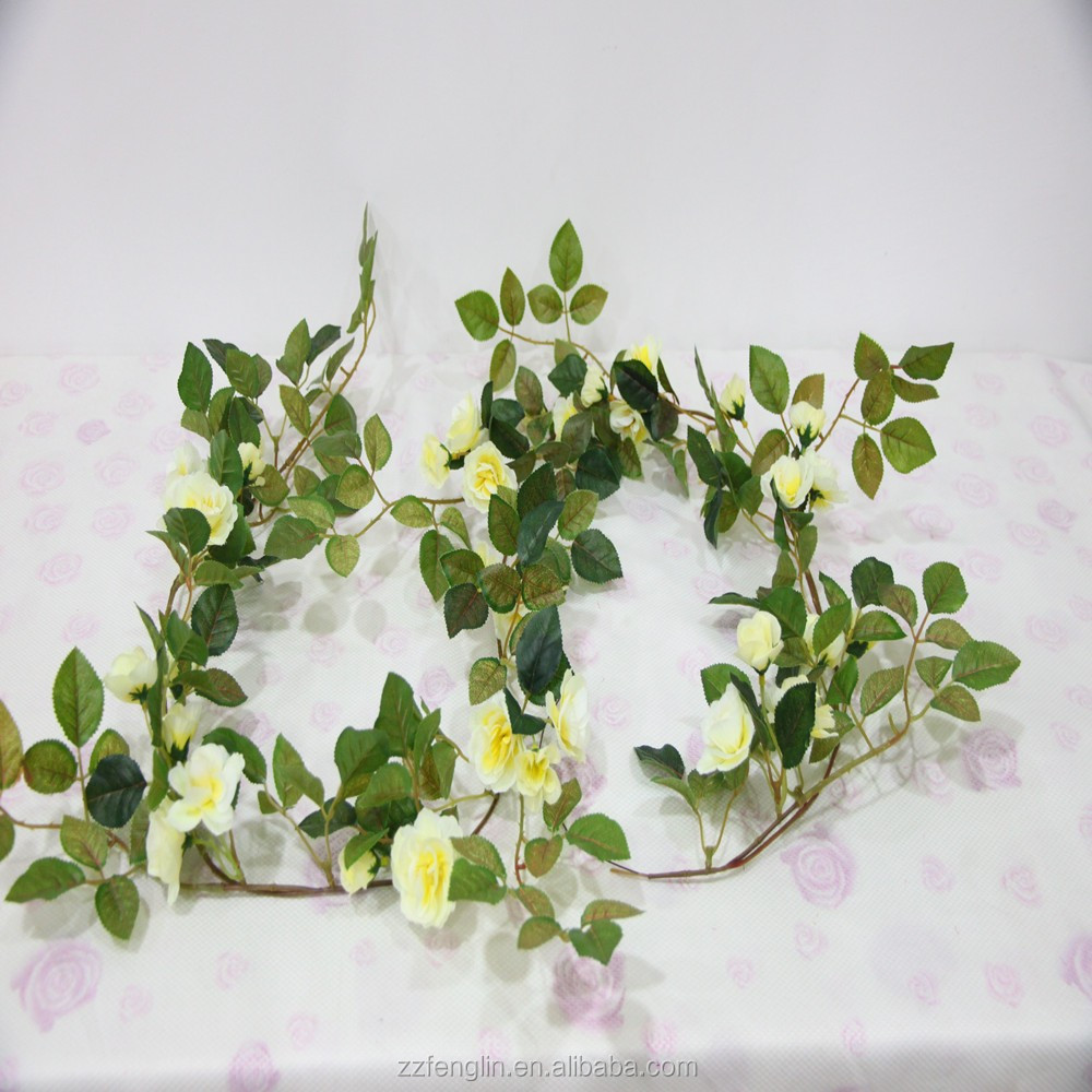 70'' Long Excellent Quality Artificial Rose stem Fake Garland Artificial Rose Wholesale