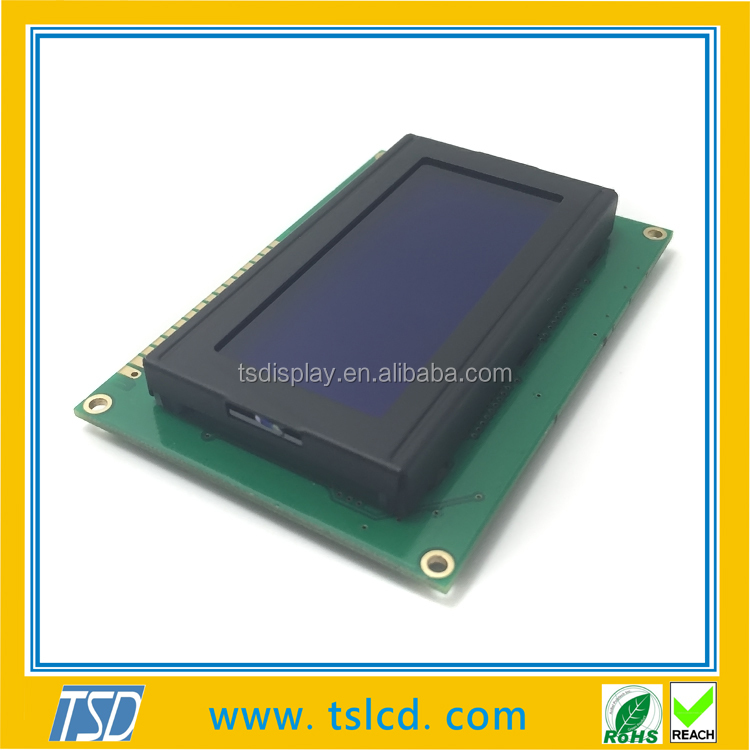 16*4 character lcd display COB type, yellow/green STN, Transflective type, outline