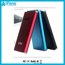High capacity 6000mah universal external battery charger mobile travel power bank for iphone5c