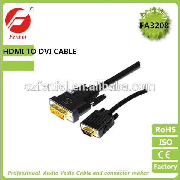 High quality 1.4V support 4K*2K DVI dual link cable for android tv box