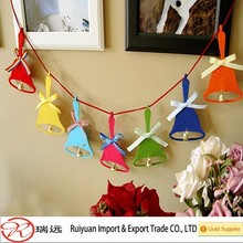 Wholesale Laser cut Bell shaped felt Christmas tree ornament
