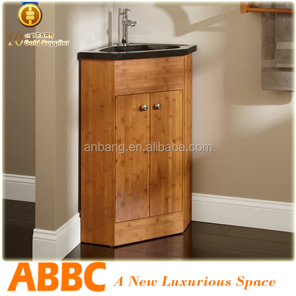 Bamboo bathroom corner cabinet cheap price off 20% model no.Bamboo-002