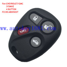 Keyless Remote Entry Key 4-Button 315mhz FCCID:ABOISO2T Fob for chevrolet Genuine GM