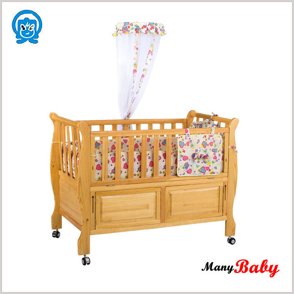 NEW wooden cradle for children baby cots and baby wood crib bed