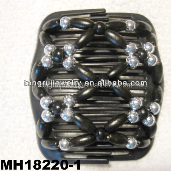 african butterfly beaded stretch magic hair combs wholesale