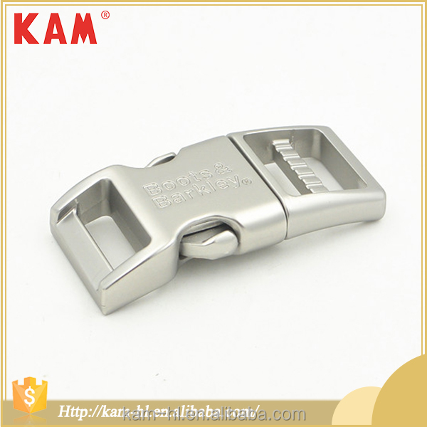 Fashion adjustable shoulder zinc alloy metal quick release belt buckle
