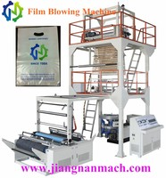 PE Simple operation plastic shrink film blowing machine with rotary die head