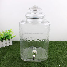 Large 3 gallon glass beverage drink water dispenser with tap and stand