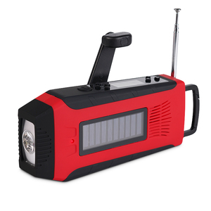 rechargeable emergency led light with solar wind up fm radio