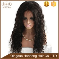 Top Sale long Natural Black African Wig Kinky Curly front Lace Human Hair Wig For Black Woman