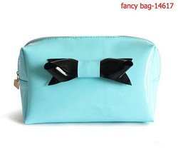 2015 newest women's shiny pu leather cosmetic bag handbag