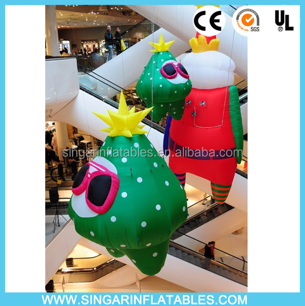 Celling decorative inflatable Christmas man,inflatable Christmas cartoon