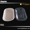 Large PET Lid for bagase food packaging container