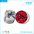 customized color paper round hat gift box with bow tie for flower