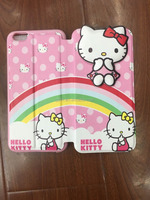 PU case Hello kitty material leather mobile coverfilp leather case for G360